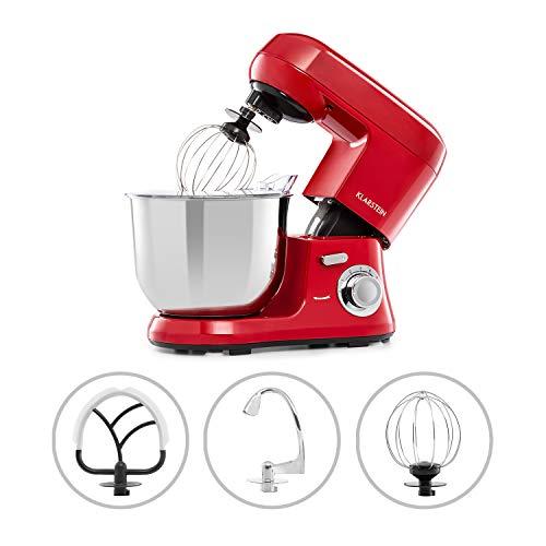 Klarstein Bella Robusta Metal - robot de cocina, carcasa de fundida a...