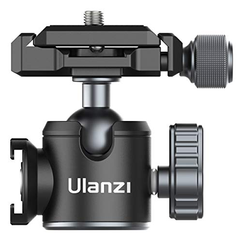 Tripod Ball Head ULANZI U-80L Camera Quick Release Metal Ball Head Camera Mount Arca Swiss 360° Rotating with Quick Release Plate & Cold Shoe, 22lbs/10kg Load for 1/4' Tripod,Monopod,DSLR,Camera