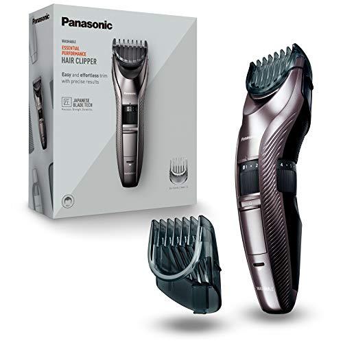 Panasonic ER-GC63-H503 - Recortadora eléctrica de precisión para barba, cabello y cuerpo, 39 ajustes, con o sin cable, limpieza fácil, acero inoxidable, negro