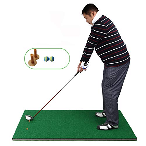 Best Price ZTJQD Golf Mat, Golf Mat Beginner Thickening Outdoor Swing Trainer Training Blanket Set (...