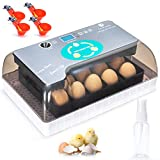 Apdo Egg Incubator, 9-35 Eggs Fully Automatic Poultry Hatcher Machine, Led Candler Automatic Egg Turner Temperature Control, Chicken Incubators for Hatching Eggs, Chicken Quail Duck Goose Turkey