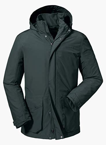 Schöffel Herren Jacket Salt Lake City2 wasser- und winddichte Outdoor Jacke, leichte und atmungsaktive Allwetterjacke für Männer, Grün (urban chic), 50