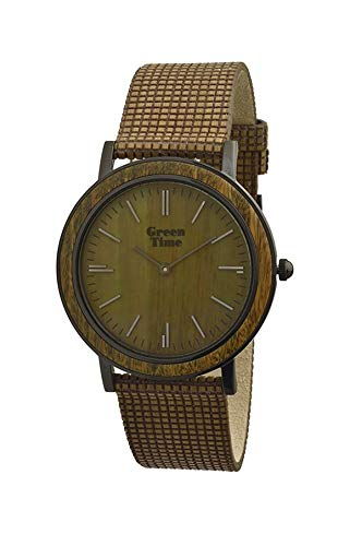 Green time - orologio uomo vegan wood green time by zzero zw085c - 302804205725