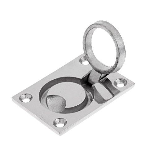 IPOTCH Bootszubehör Edelstahl Rund Flush Lift Ring Hatch Pull Griff