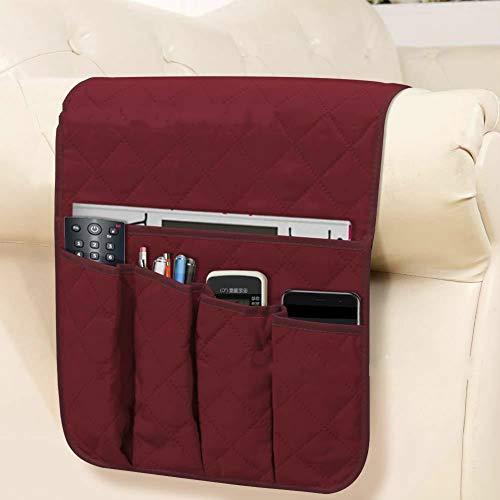 YOUYUANF Almacenamiento Sofa Side Storage Bag Armrest Storage Bag Bedside Storage Hanging Bag TV Remote Control Storage Bag Bedside Storage