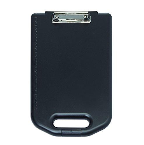 MAUL Klemmbrettbox, ABS-Kunststoff, schwarz, großes A4 Aufbewahrungsfach, extra Formularhalter Innen