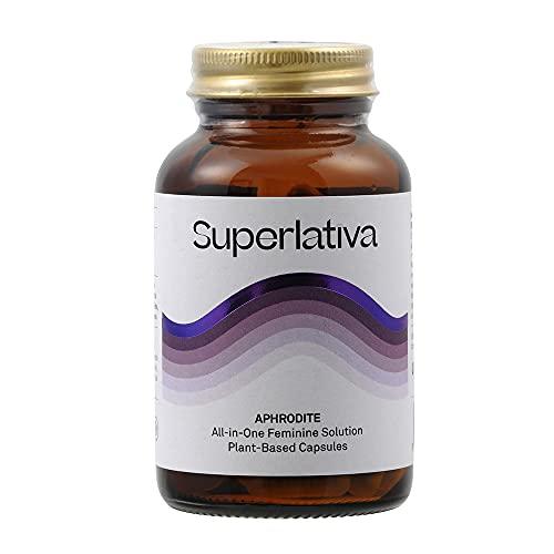 Aphrodite | Balance Hormonal | Alivia dolores Menstruales y síntomas Menopausia | Suplemento herbal con Adaptógenos, Maca, Damiana, Vitaminas