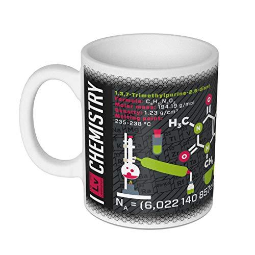 getDigital Wissenschaftsbecher Chemie- Perfekte Kaffeetasse für Schüler, Studenten, Chemiker und andere Wissenschaftler-300 ml, Keramik, Schwarz Weiß, 10 x 10 x 10 cm
