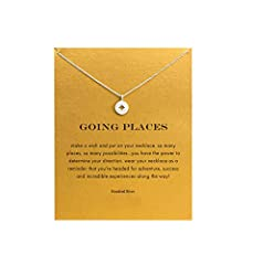 【Necklace Meaning】 Even when you are far away from friend and family, You have the courage and power inside to navigate your own way. this necklace will remind enjoy the journey as you dream, and reach for your goals. 【Inspirational Message Card】 Sta...