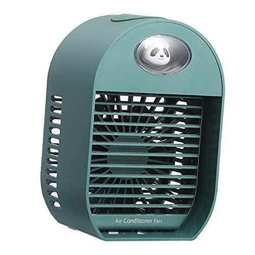 Baoblaze Enfriador de Aire portátil, pequeño acondicionador de Aire, Ventilador de refrigeración y humidificador, Mini difusor de Aroma de Ventilador Enfriador - Verde
