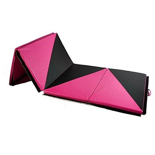 Ainfox 4'x10'x2 Gymnastic Mats, Folding Exercise Yoga Panel Tumbling Gymnastic Mats Yoga Fitness Training