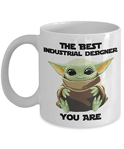The Best Industrial Designer Mug You Are Cute Baby Alien Funny Gift For Coworker Present Gag Office Joke Sci-fi Fan Movie Theme Coffee Tea Cup 11 oz