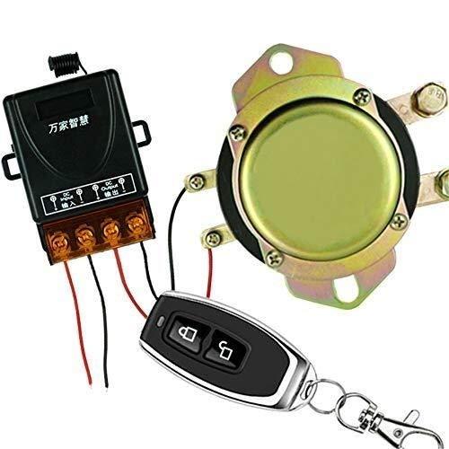 HYY-YY Universal 12 V interruptor de batería de coche Control remoto control manual desconexión de bloqueo relé solenoide válvula sistema kit
