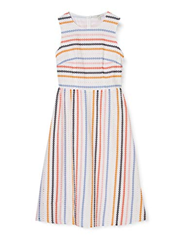 ESPRIT Kleid mit Stickerei, 100% Baumwolle