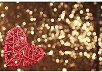 写真パーティーのための新しい2.1x1.5mVinylバレンタインデーの背景の背景ゴールドボケ赤いハート母の日の背景