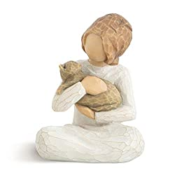 Sentiment: Above all, kindness written on enclosure card 3 Inch hand-painted resin figure; ready to display on a shelf, table or mantel; to clean, dust with soft brush or cloth Child figures work well together in groupings that reflect your family re...
