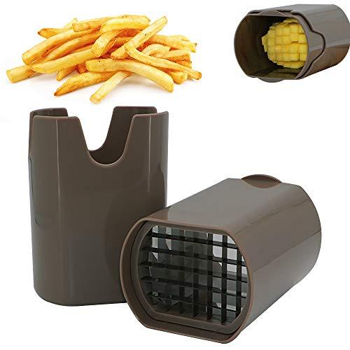 Speyang Kartoffelschneider, Kartoffelschneider Scheiben, Pommes Frites Schneider Edelstahl, Pommesschneider Sehr Gut Geeignet für Kartoffeln, Karotten Usw (Braun)