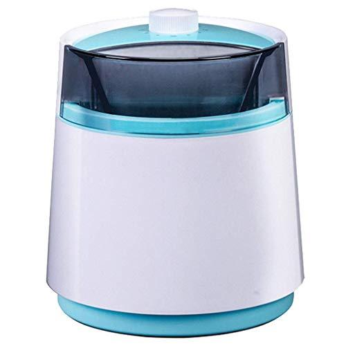 BECCYYLY Máquina automática de Helados, refrigeración de Doble Capa, máquina de Helado portátil, Yogurt Suave congelado, máquina de Sorbete de Fruta, Caja Fuerte, Tinnitus con Leche Azul wmpa