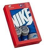 Nike - Estuche de regalo para bebé con gorro y zapatos, color azul y gris