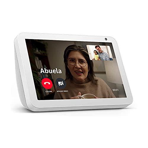 Echo Show 8 - Videollamadas con Alexa - Pantalla inteligente HD de 8' - Blanco