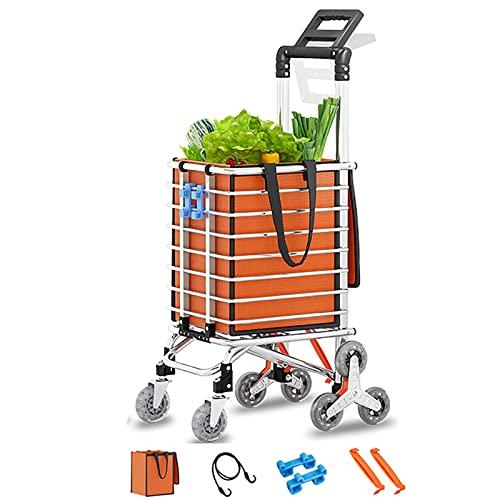 rff Carrito de Compras/de Ancianos escaleras de Escalada portátiles Plegable Tienda de Compras Carrito/Trolley Trailer 35l (Color : B)