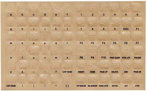 DataCal Braille Keyboard Stickers for The Blind and Visually Impaired by DataCal