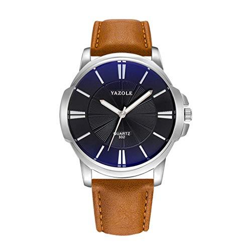 Luckhome Herren Uhr Armband Frauen Mit Lederarmband Geschäfts Klassisch Analog Quarz Dünn Elegant Herrenuhr Top Marke Business Männliche Quarz-Armbanduhr Freizeit Leder Quarzuhr