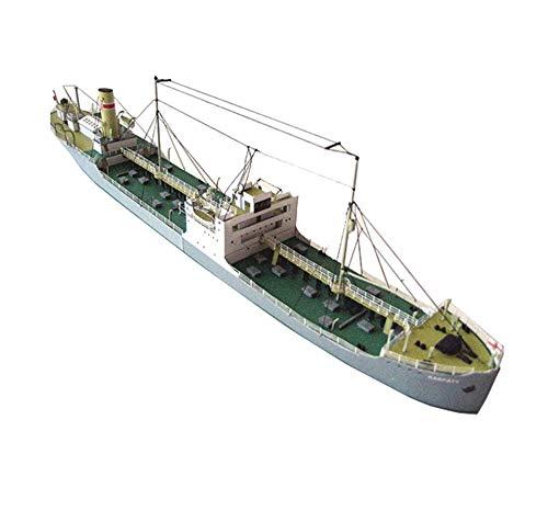 Military Paper Puzzle Modell Spielzeug, 1/400 Maßstab polnische Karpaty Frachtschiff Kinder Spielzeug und Geschenke, 12.6Inchx1.7Inch Jzx-n
