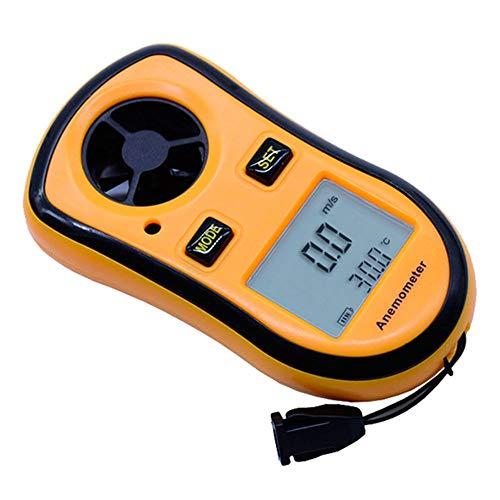 Shuxinmd Wind Geschwindigkeit Meter Digital Anzeige Anemometer Hintergrundbeleuchtung LCD Display Multifunktion Für Windsurfen Fliegen Segel Surfen Fischen Außen SPORTS