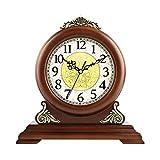 ZJZ Relojes de repisa Antiguos, Reloj de Mesa de Madera para Escritorio con Campana de Westminster, Reloj Retro, Reloj de Cuarzo silencioso, decoración clásica, Estante de pie, Reloj, 29 *