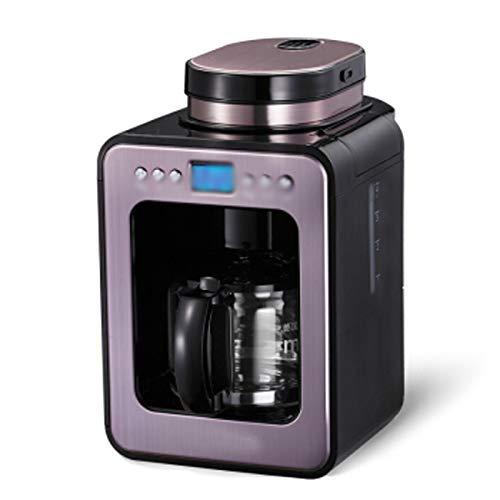 LJHA kafeiji Amerikanische Kaffeemaschine, Kaffeemaschine zu Hause, Vollautomat, Doppelbohnentrog, automatische Kaffeebohnenmaschine, Kaffeereservierung, Bedienung per Knopfdruck, 212mm × 277mm × 440