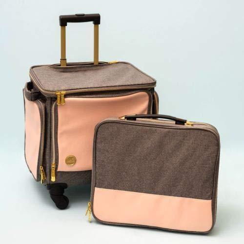 Maleta Crafter's Bag 360º 2 en 1 con Maletín Gris y Rosa We R Memory Keepers