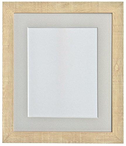 FRAMES BY POST 18 x 12 cm, korrel diepe fotolijst met houder, 20,3 x 14 grijs cm, afbeeldingsgrootte, lichtbruin