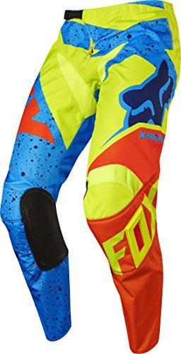 Fox 2017 Kinder Motocross / MTB Hose - 180 NIRV - gelb-blau: Größe Hose: 24 US / 123-134 cm