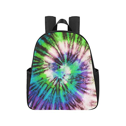 Colourful Tie Dyed Abstract Backpacks for Teens 12.40x5.12x14.17inch Highschool Backpacks Multipurpose Casual Backpacks for Teens Business Travel School,Office