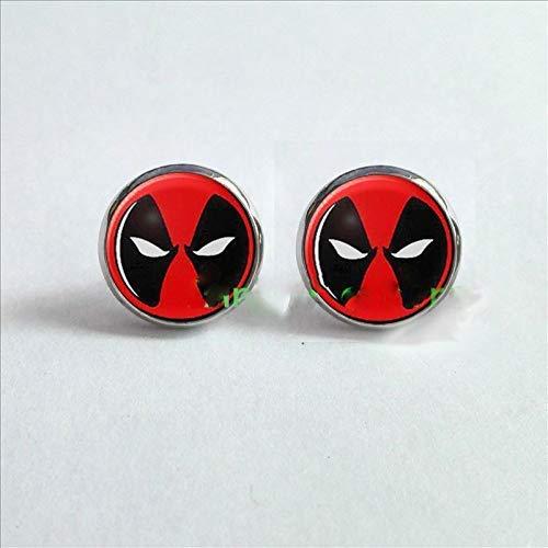 ES-0395ear Pendientes para niñas con diseño de Deadpool