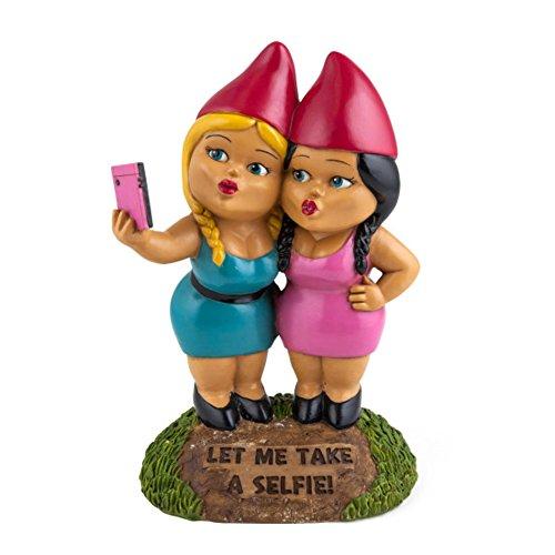 BigMouth Inc Selfie Sisters Gnomo da Giardino