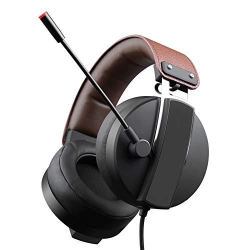LHYXRJ Écouteurs filaires Qui Peuvent Entendre Les Pas de Pieds, Ordinateurs Portables de Bureau, Jeux universels, Jeux vidéo 7.1 canaux FPS