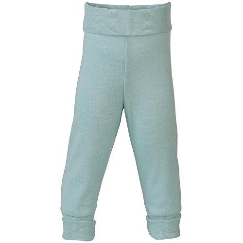 Engel Natural, pantalones para bebé con cintura del ombligo, 70% lana (kbT) y 30% seda. azul glaciar 86/92 cm