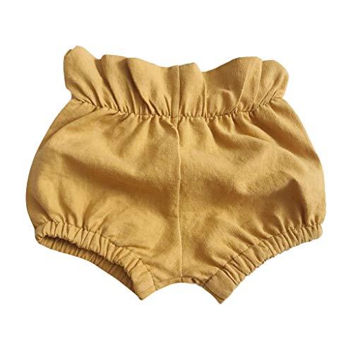 Sommer Baby Mädchen Jungs Solide Gerüscht Kurze Hose Slip