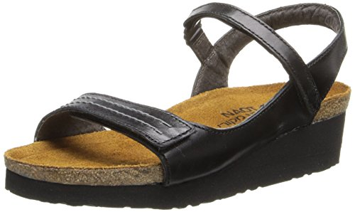 Naot Women's Madison Black Madras Sandal 5 M US