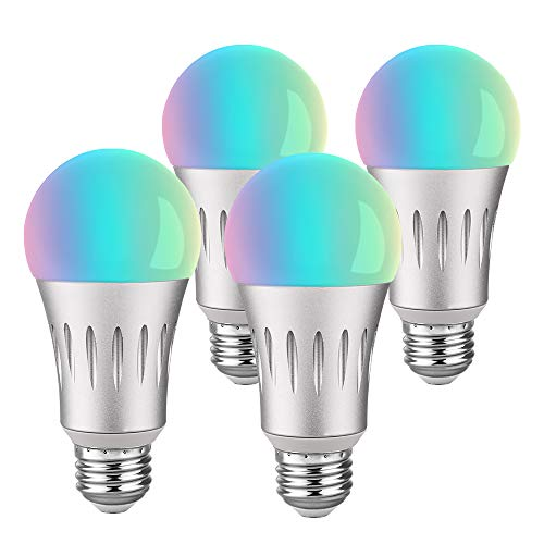 Brizled 4 Pack Smart LED Light Bulb, A19 60W Equivalent Smart Bulb, Dimmable Warm White and Color Ambience WiFi Light Bulbs, No Hub Required Light Bulbs for Home, Work with Alexa and Google Assistant