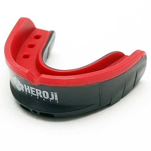 Heroji Mouth Guard - for Sports with Case. Mouthguard Designed Best for Hockey, Football, Boxing, MMA, Basketball, Baseball, Muay Thai, Karate! - Protection & Comfort