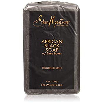Shea Moisture African Black Soap With Shea Butter 8 oz  Pack of 8
