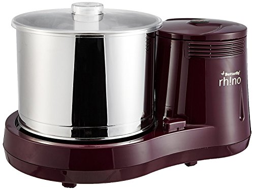Butterfly Rhino 2-Litre Table Top Wet Grinder (Cherry) / Free Delivery -Wet...