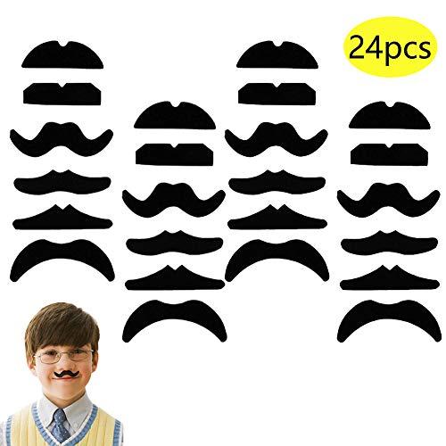 Lot de 6 ou 12 Noir Mexicain années 70 Stick Faux Moustache Auto Adhésif Tash