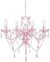 Tadpoles Vintage-Style Chandelier, Crystal Chandelier Lighting, 5-Bulb, Pink Sapphire