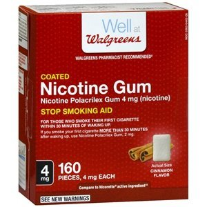 Walgreens Nicotine Replacement Gum 4Mg, Cinnamon, 160 ea