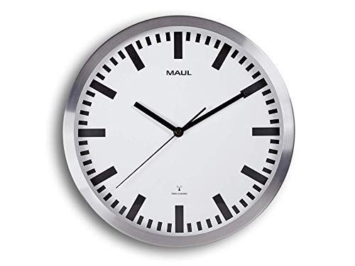 Maul 9063308 Funkuhr, Silber, Ø 30 cm