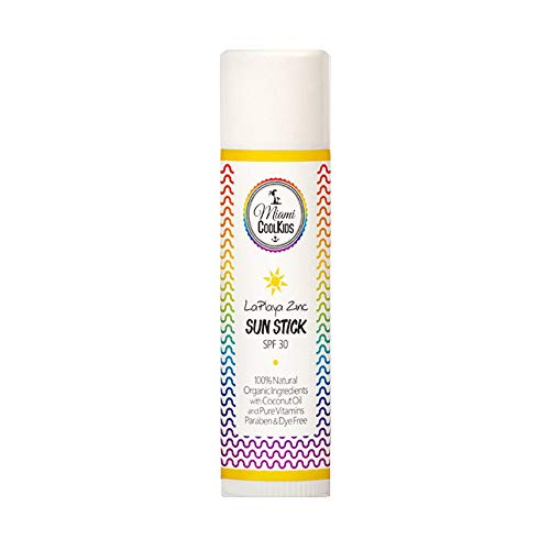 Miami Cool Kids LaPlaya Zinc Organic Sun Stick SPF 30 Kids and Baby Sunscreen Non Nano Zinc Oxide Natural Childrens Sunscreen